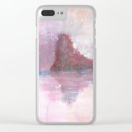 Abstract Red Landscape Clear iPhone Case