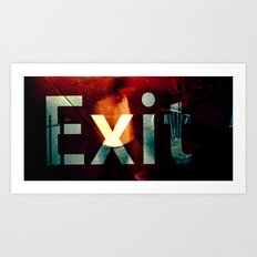 Exit II Art Print