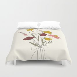 Wildflowers Bouquet Duvet Cover