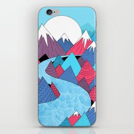 Blue Sky River iPhone Skin