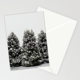 Arbor Vitae in Snow Stationery Cards