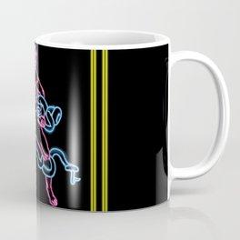 Snake Man Neon Coffee Mug