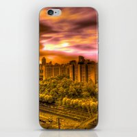 korea iPhone & iPod Skins featuring Sunrise in Korea by Anthony M. Davis