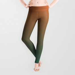 Quetzal Green Meerkat Gradient Pattern Leggings