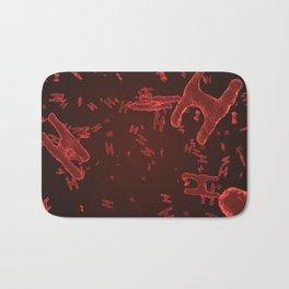 Abstract red virus cells Bath Mat