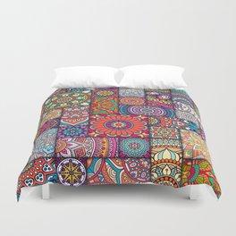 Boho Patchwork Quilt Pattern 2 Duvet Cover