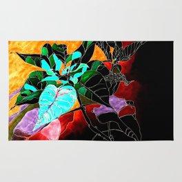 Dark Poinsettia Rug