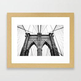 new york #3 - Brooklyn Bridge Framed Art Print