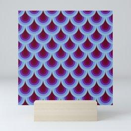 Dark Retro Scales Mini Art Print