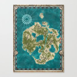 Pirate Adventure Map Canvas Print