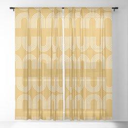 Rainbow balance - yellow Sheer Curtain