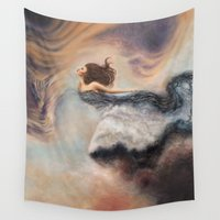 wind Wall Tapestries featuring Wind by Erica Wexler