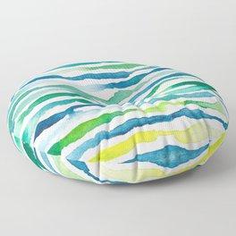 Ocean Zebra Chevron Floor Pillow