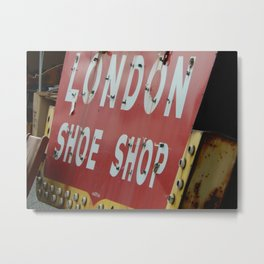 London Shoe Shop Metal Print