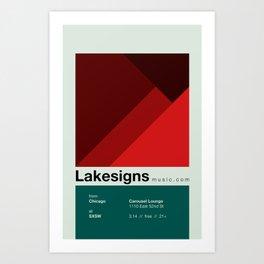 Lakesigns Poster - SXSW 2012 (4 of 4) Art Print