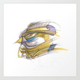 Wanderfalke Art Print