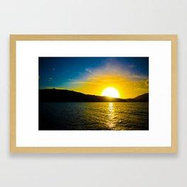 Sunset over the Sea Framed Art Print