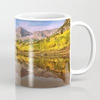 mountains Mugs featuring mountains. Mirror Lake by 2sweet4words Designs