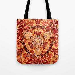 Red Flora Tote Bag