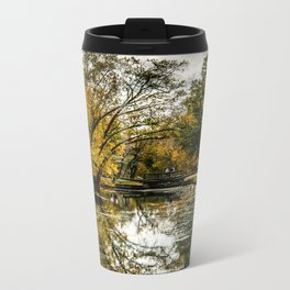 Autumn on the Canal Metal Travel Mug