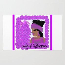 A Purple-Violet Merry Christmas Rug