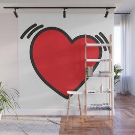Beating heart Wall Mural