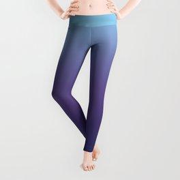 Ombre Blue Ultra Violet Gradient Pattern Leggings