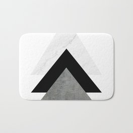Arrows Monochrome Collage Bath Mat