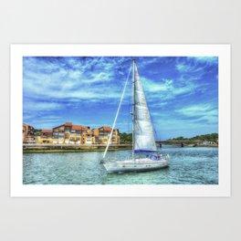 Capbreton boat Art Print