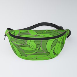 Abstract Emerald Green Forest Fanny Pack