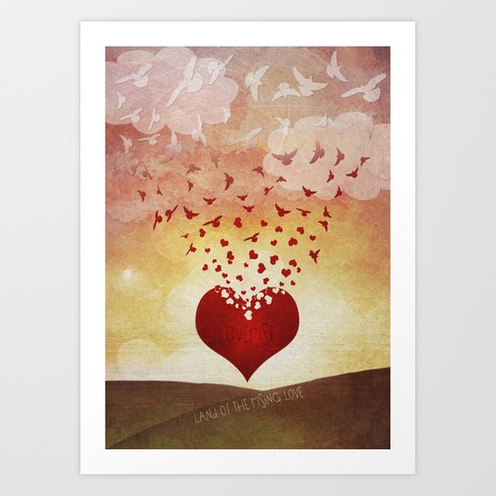Land of the Rising Love Art Print