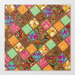 Patchwork Paisley Canvas Print