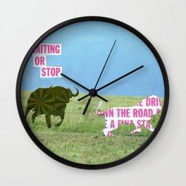 The vegan bull Wall Clock