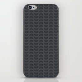 Dark Gray Grey Leaves iPhone Skin