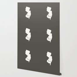 New Jersey is Home - White on Charcoal Wallpaper