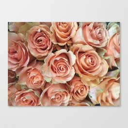 Peach Rose Bouquet Canvas Print