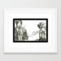 black butler Framed Art Prints featuring Kuroshitsuji - Black Butler by Tyliss