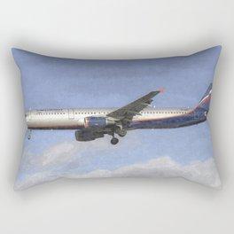 Aeroflot Airbus A321 Art Rectangular Pillow