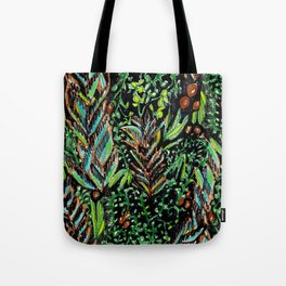 A Good Tropical Pattern With a Black Background is Hard to Find Tote Bag