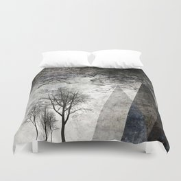 TREES besides MAGIC MOUNTAINS I Duvet Cover