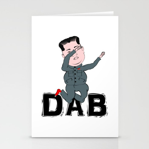 Kim Jong Un Dabbing Stationery Cards