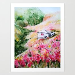 Poppies fields of summer Art Print