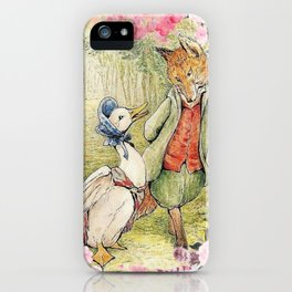 Jemima Puddle-Duck Floral iPhone Case