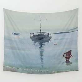 Morning at Sea Wall Tapestry
