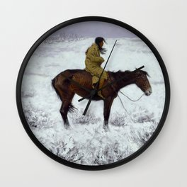 "Frederic Remington Western Art ""The Herd Boy"" Wall Clock"