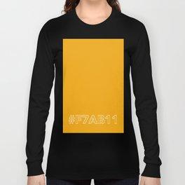 #F7AB11 [hashtag color] Long Sleeve T-shirt