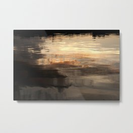 Abstract Sunset Reflection Metal Print