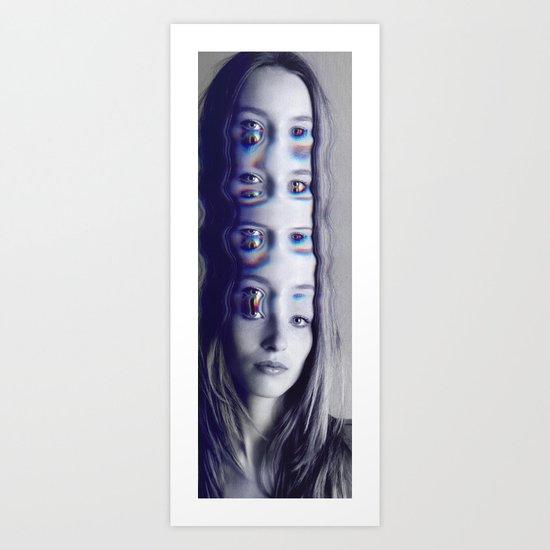 Glitch Mind Melt Art Print