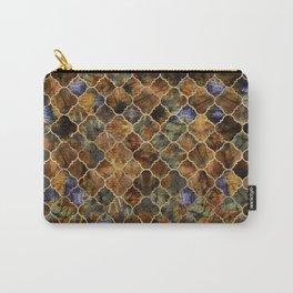 Quatrefoil Moroccan Pattern Brown Labradorite Carry-All Pouch