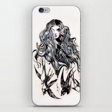 Woman & birds iPhone Skin